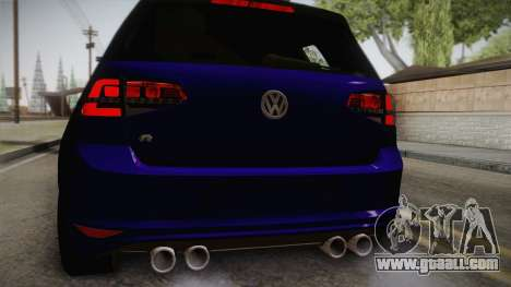 Volkswagen Golf 7R 2015 Beta V1.00 for GTA San Andreas back view