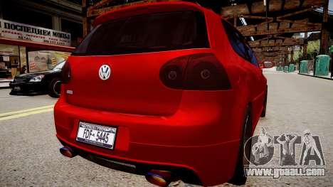 Volkswagen Golf V GTI for GTA 4 back left view
