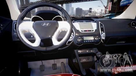 Hyundai ix35 DUB for GTA 4 inner view