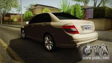 Mercedes-Benz C180 for GTA San Andreas
