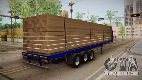 Flatbed Trailer Blue for GTA San Andreas