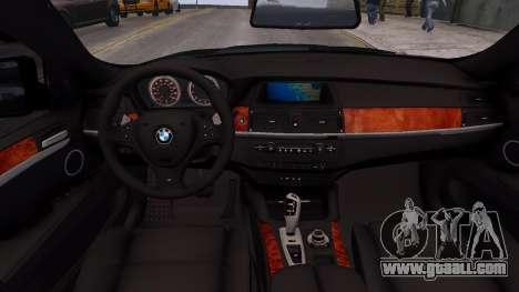 BMW X6M by DesertFox v.1.0 for GTA 4 inner view