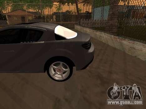 Mazda RX-8 for GTA San Andreas bottom view