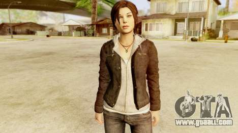 Rise of the Tomb Raider - Lara Leather Jacket for GTA San Andreas second screenshot