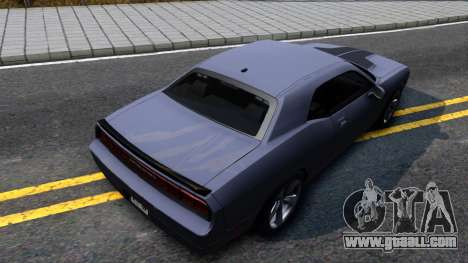 Dodge Challenger Unmarked 2010 for GTA San Andreas back view