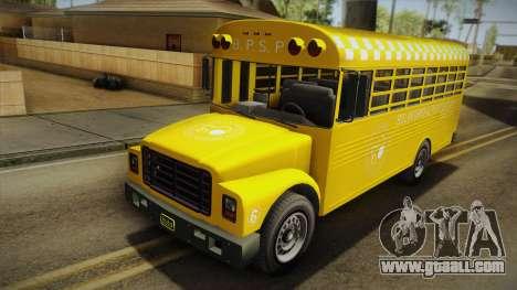 GTA V Vapid Police Prison Bus for GTA San Andreas