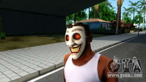Joker Clan Mask From Injustice Gods Among Us for GTA San Andreas second screenshot