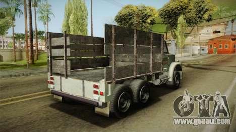 GTA 5 Vapid Scrap Truck v2 for GTA San Andreas back left view