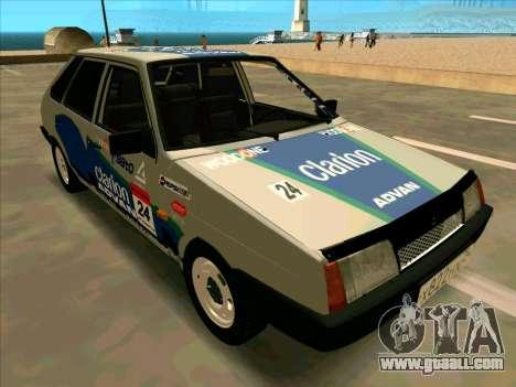 VAZ-2109 RАLLY SKIN for GTA San Andreas inner view