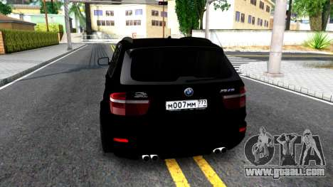 BMW X5M E70 2011 for GTA San Andreas back left view