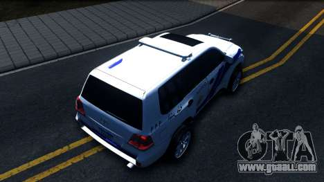 Toyota Land Cruiser Police for GTA San Andreas back view