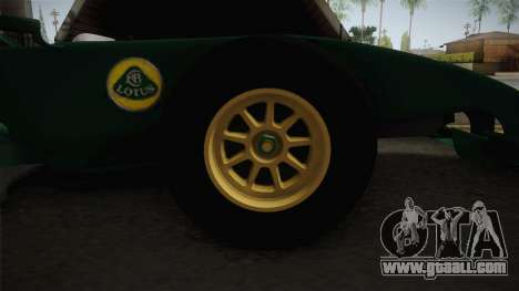 F1 Lotus T125 2011 v1 for GTA San Andreas back view
