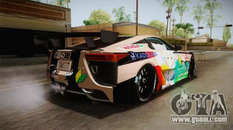 Lexus LFA Felix The Brown of ReZero for GTA San Andreas