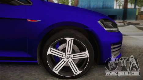 Volkswagen Golf 7R 2015 Beta V1.00 for GTA San Andreas back left view