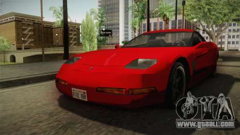 Declasse Coquette 2002 IVF for GTA San Andreas right view