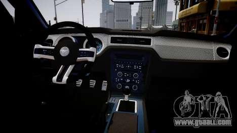 Ford Mustang Boss 302 2013 for GTA 4 inner view