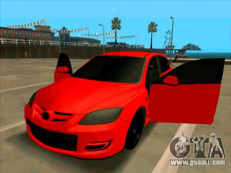 Mazda 3 Red for GTA San Andreas right view