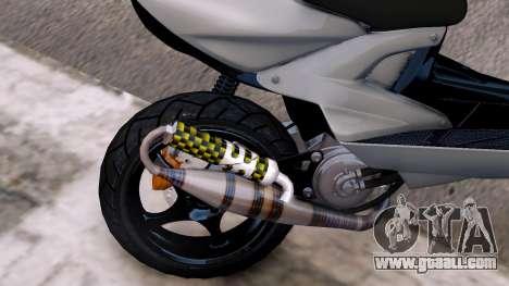 Yamaha Aerox for GTA 4 inner view