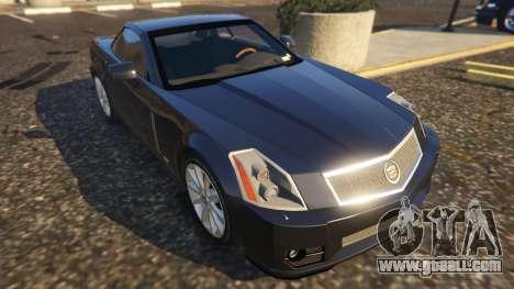 GTA 5 Cadillac XLR-V back view