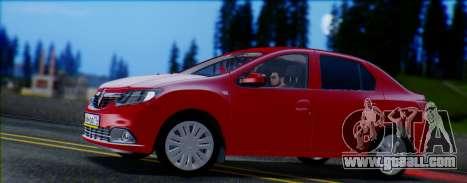 Renault Logan 2016 for GTA San Andreas left view