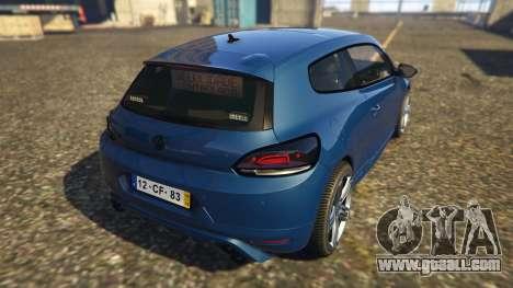 GTA 5 Portuguese Republican National Guard - Scirocco rear left side view