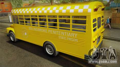 GTA V Vapid Police Prison Bus for GTA San Andreas left view