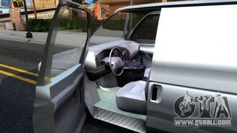 Ford E-150 v.2 for GTA San Andreas inner view