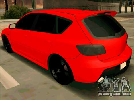 Mazda 3 Red for GTA San Andreas left view