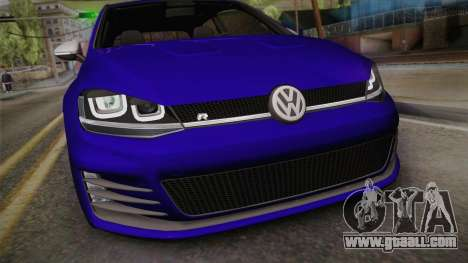 Volkswagen Golf 7R 2015 Beta V1.00 for GTA San Andreas right view