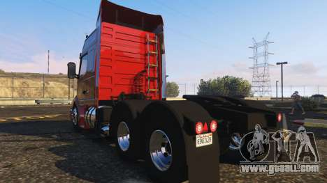 GTA 5 Volvo NH12 R440 rear left side view