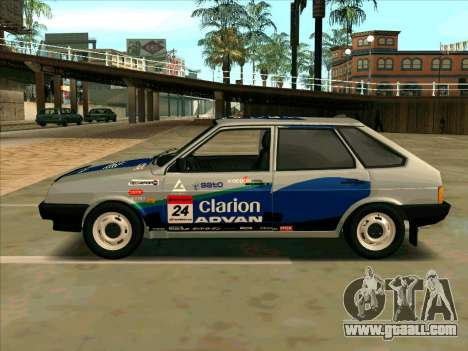 VAZ-2109 RАLLY SKIN for GTA San Andreas