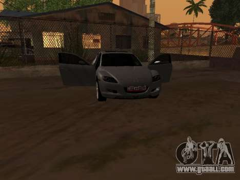 Mazda RX-8 for GTA San Andreas back view