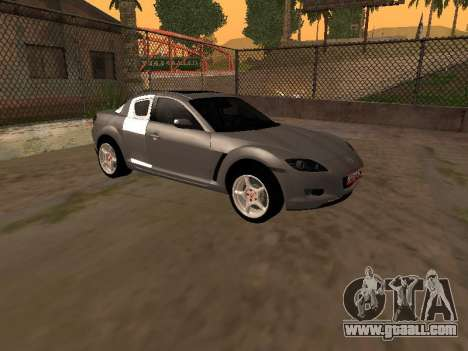 Mazda RX-8 for GTA San Andreas right view