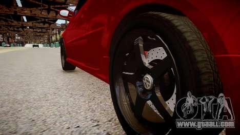 Volkswagen Golf V GTI for GTA 4 back view