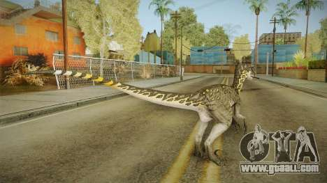 Primal Carnage Velociraptor Thunderstruck for GTA San Andreas third screenshot