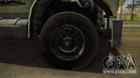 GTA 5 Vapid Scrap Truck v2 for GTA San Andreas back view