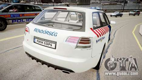 Hungarian Audi Police Car for GTA 4