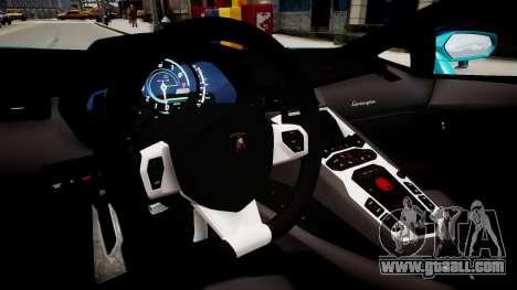 Lamborghini Aventador with a flag of Kazakhstan for GTA 4 inner view