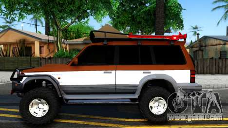 Mitsubishi Pajero Off-Road for GTA San Andreas left view