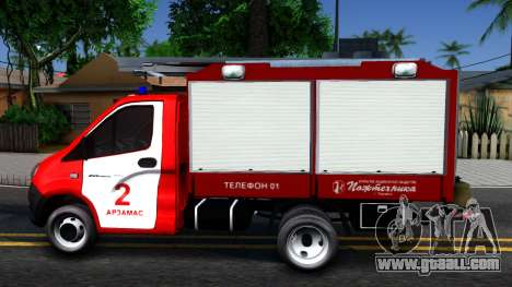 Gazelle Fire for GTA San Andreas left view