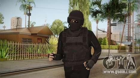 GTA Online Military Skin Black-Negro for GTA San Andreas