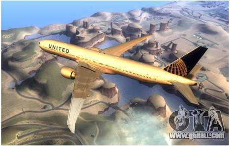 United Airlines Boeing 777-322ER - N58031 for GTA San Andreas