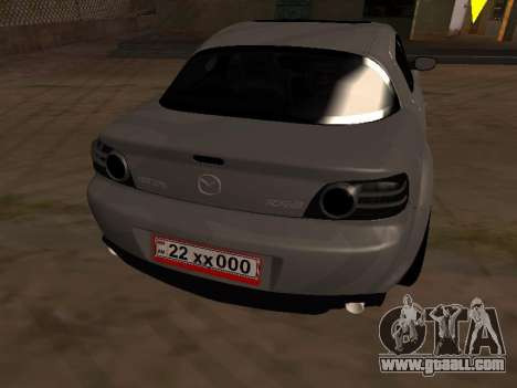 Mazda RX-8 for GTA San Andreas upper view