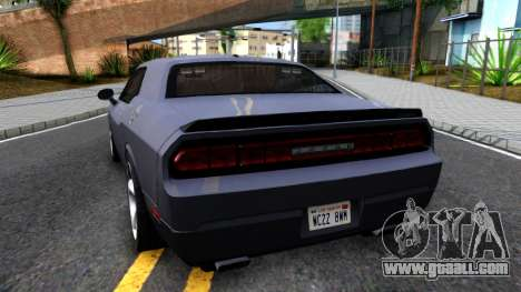 Dodge Challenger Unmarked 2010 for GTA San Andreas