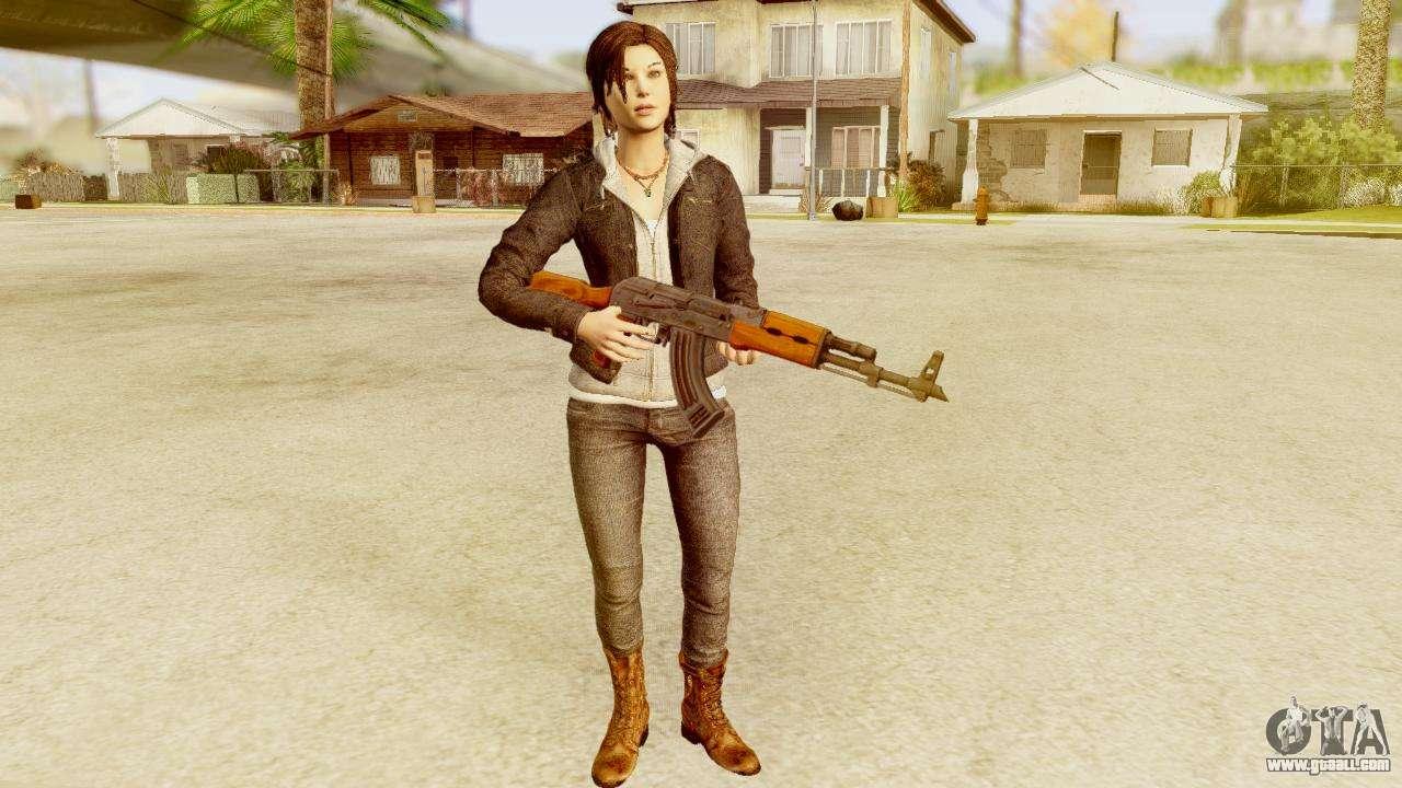 Lara Croft from Tomb Raider 2013 for GTA San Andreas