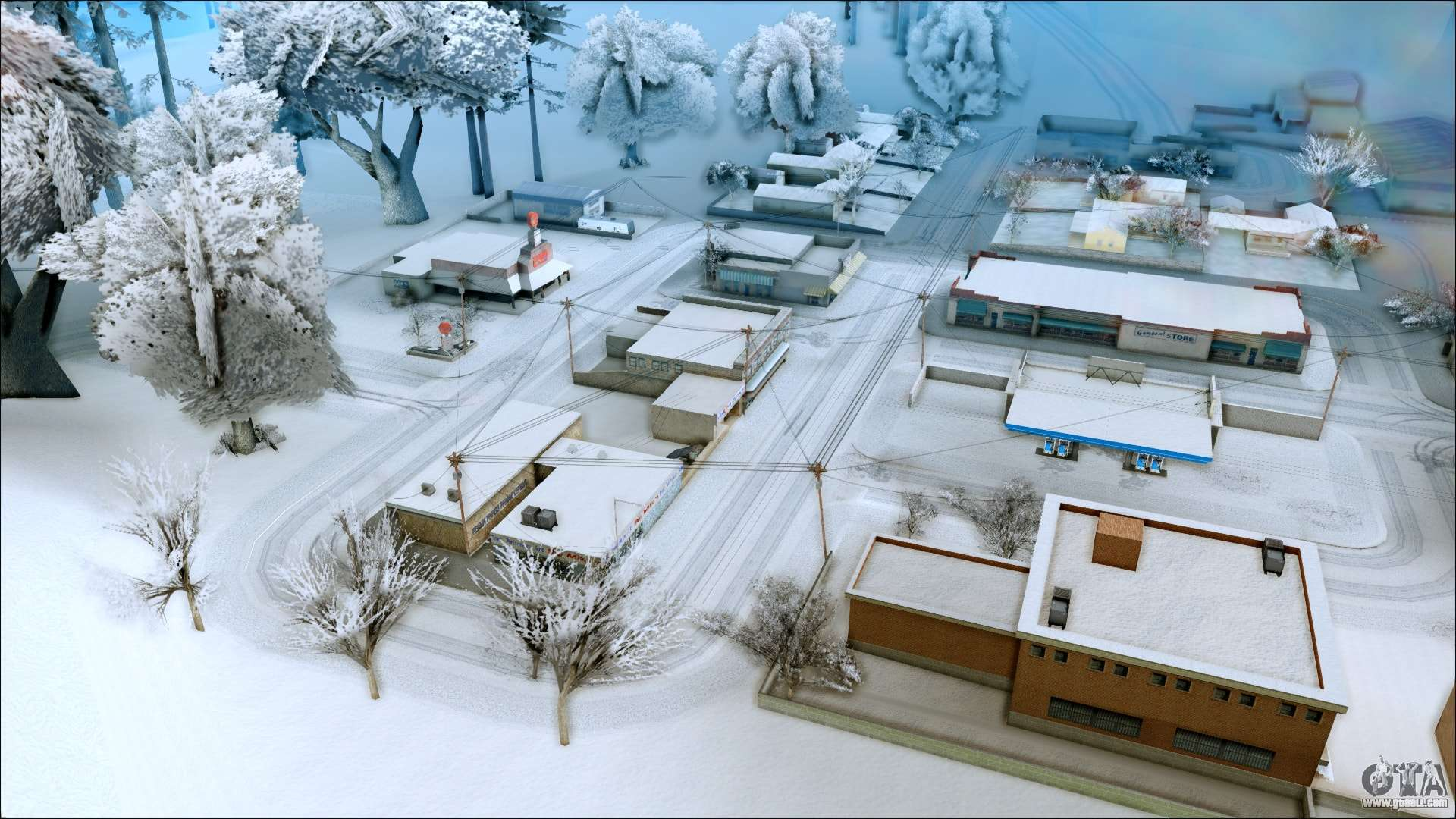 New winter mod for GTA San Andreas