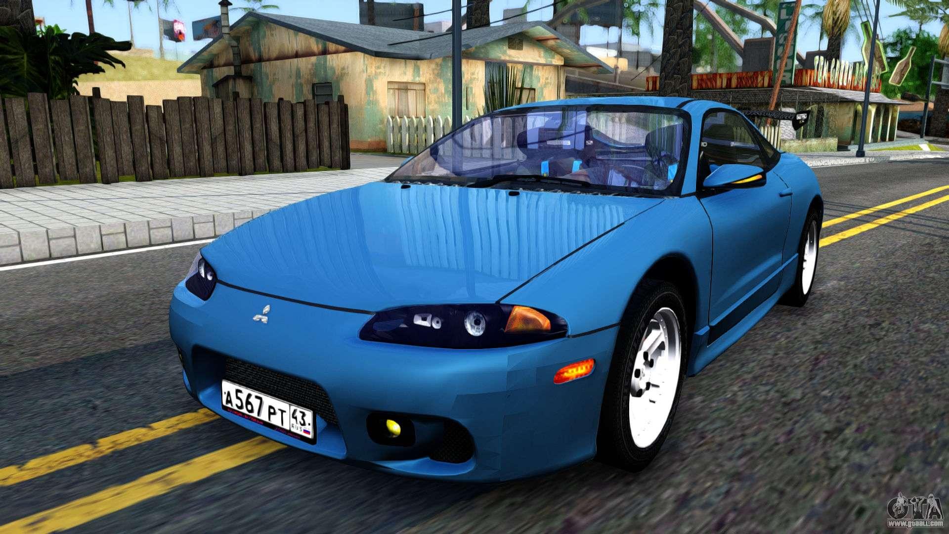Mitsubishi Eclipse 2016 >> Mitsubishi Eclipse turquoise for GTA San Andreas