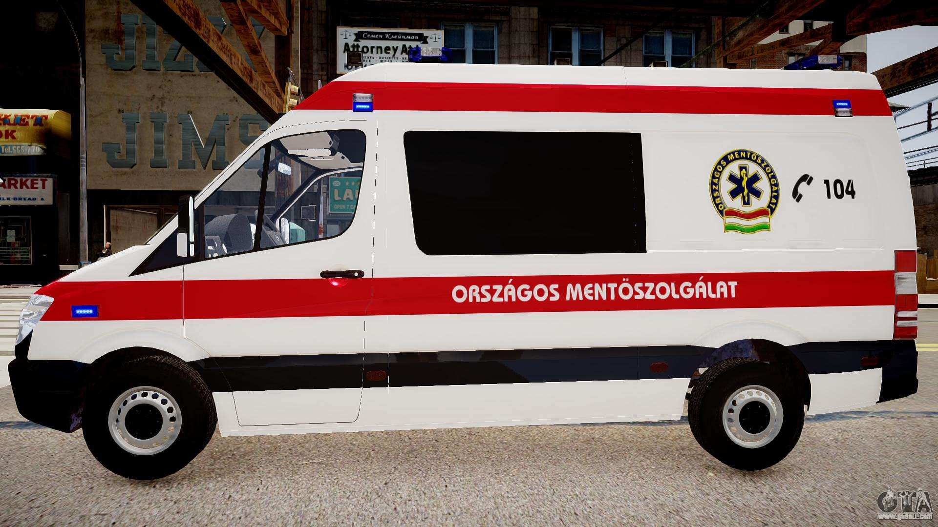 Hungarian Mercedes Sprinter Ambulance for GTA 4