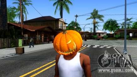 Pumpkin Mask Celebrating Halloween for GTA San Andreas