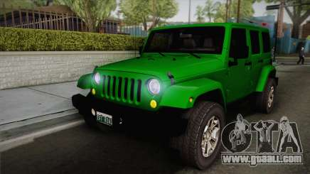 Jeep Wrangler Unlimited Rubicon 2013 for GTA San Andreas